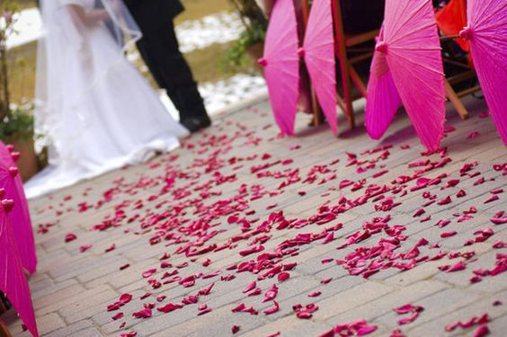 rose petal decor, decor, decor ideas, ruby roses, ruby rose petals,  wedding decor ideas, ideas for wedding decor, aisle decor, aisle decoration, aisle decoration