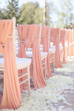 Coral And White Petal Aisle
