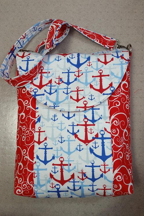 Anchors and Waves Nautical Purse