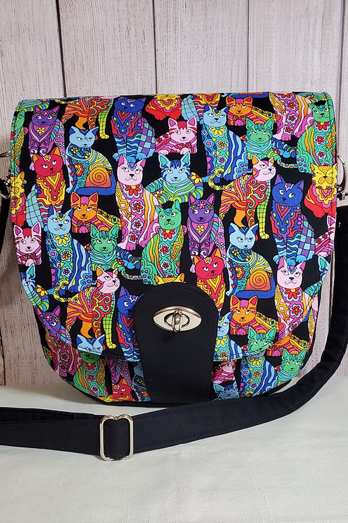 Colorful Fashion Cats Purse (made in the USA by the Chesapeake Bay)