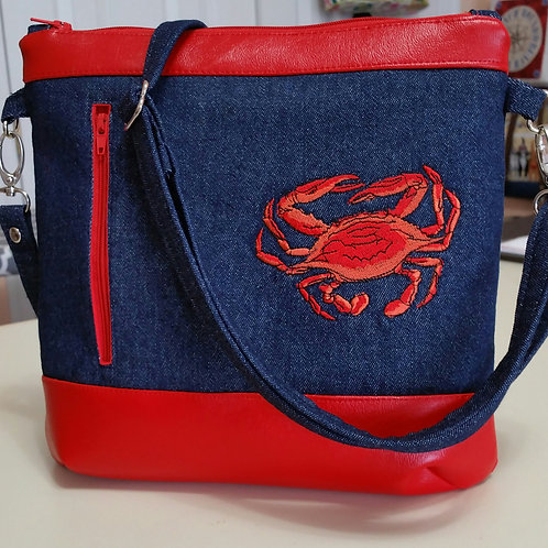 Red Maryland Crab Purse