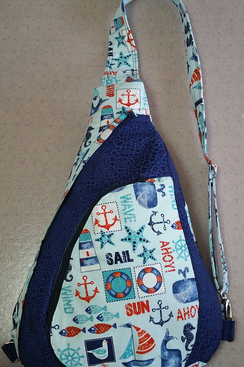 Nautical Sling Pack Bag