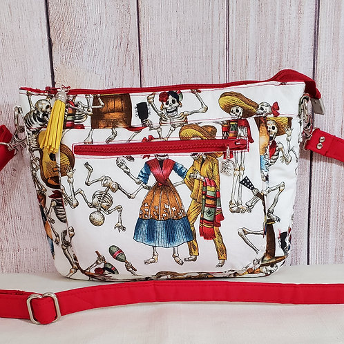 Dia de los Muertos Purse (made in the USA by the Chesapeake Bay)