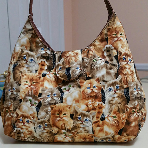 Golden Kittens Purse