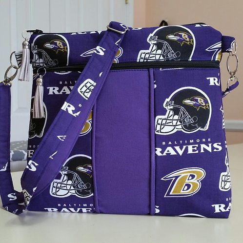 Raven's Cross-Body Purse (made in USA by the Chesapeake Bay)- PLACE ORDER