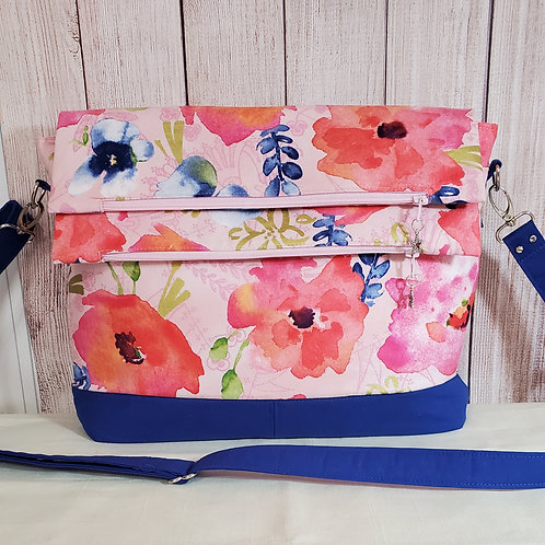 Poppies Flaps Purse (made in the USA by the Chesapeake Bay
