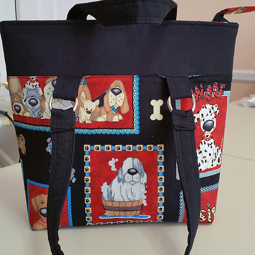 Framed Puppies Purse