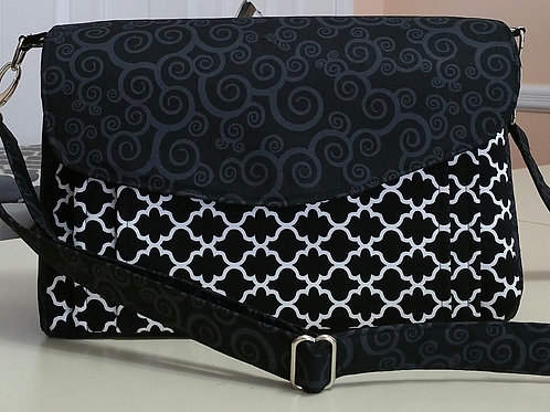 Black on Black Patterns Purse