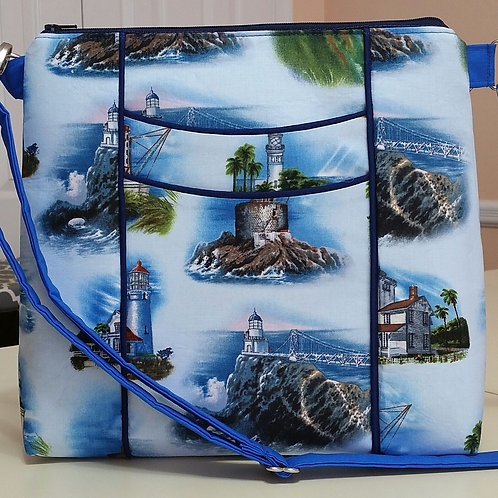 Blue Lighthouses Purse