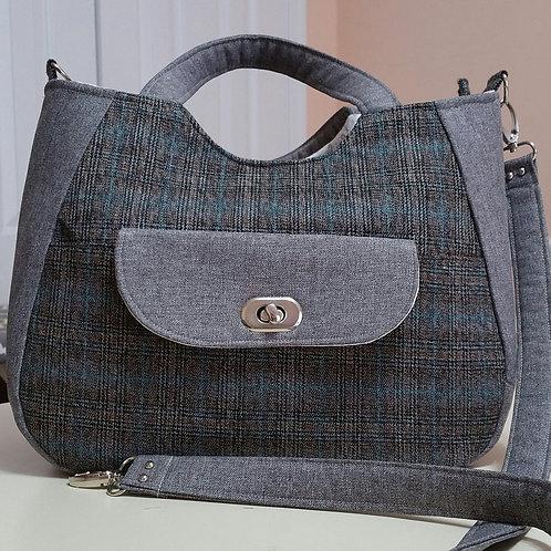 Plaid and Gray Handbag