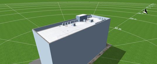 הדמיה של תיכנון הפנאלים על גג