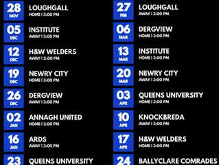 League fixtures announced