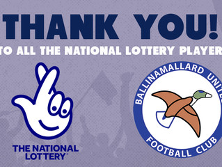 Thank you National Lottery players