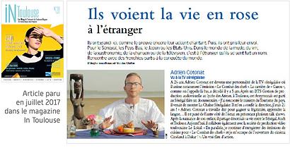 Adrien Cotonat, émission tv au sénégal