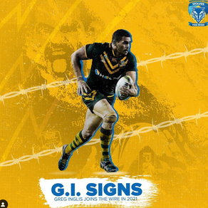 Greg signs with Warrington Wolves