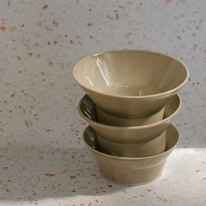 Almost nesting bowls by b.side projects