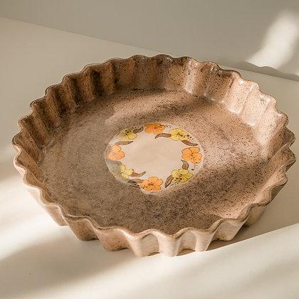 Stoneware pie plate