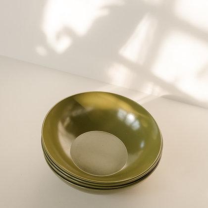 Avocado green dessert bowls