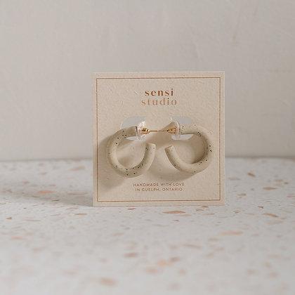 Small hoops in speckle by Sensi Studio