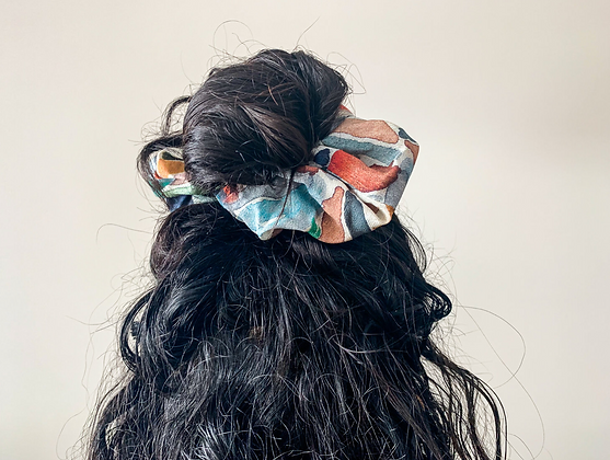 Painted Patchwork scrunchy by Calica Studio