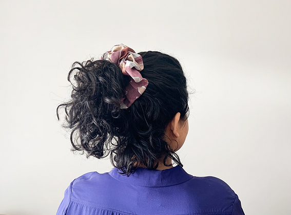Painted Plates scrunchy by Calica Studio