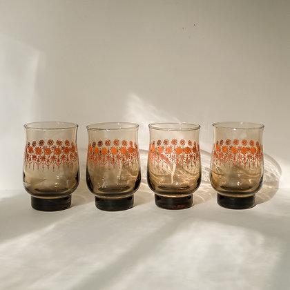 1960s juice glasses