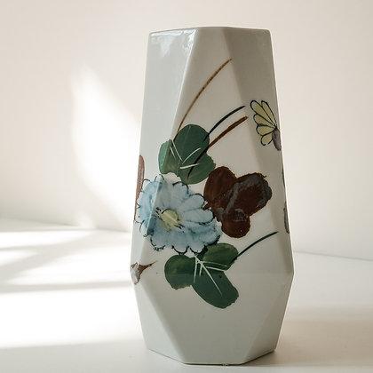 Hand painted flower vase