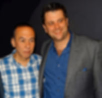 Kevin and Gilbert Backstage Carolines.jp