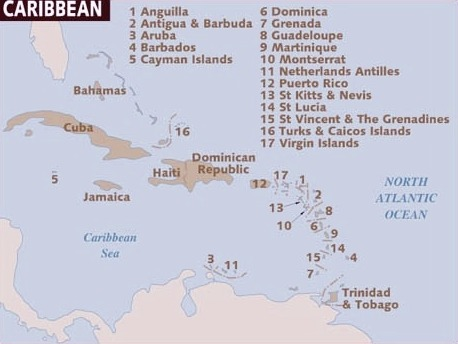 CARIBBEAN ISLANDS LIST