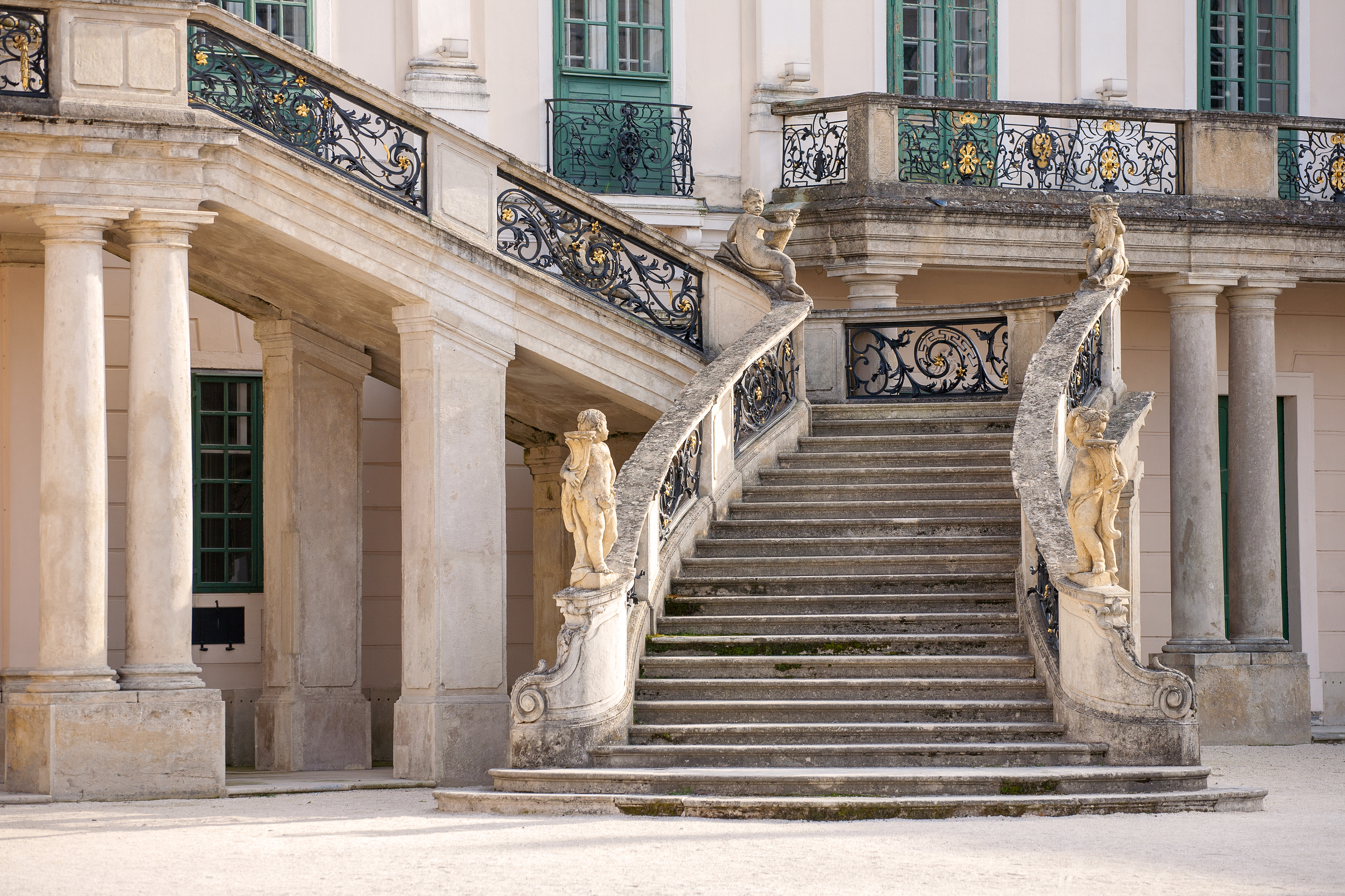 THE ESTERHAZY CASTLE PALACE STAIRS