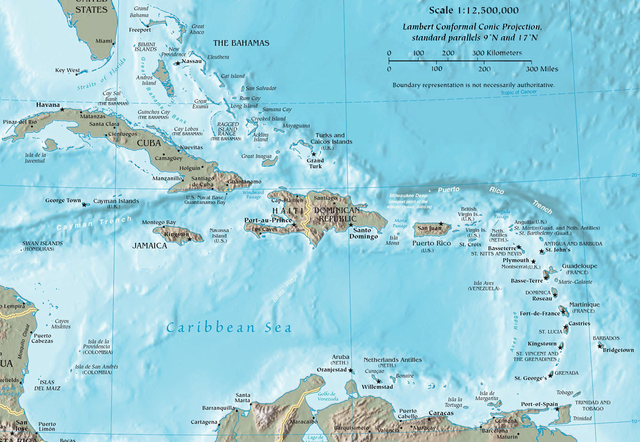 CARIBBEAN MAP USA PROPERTY