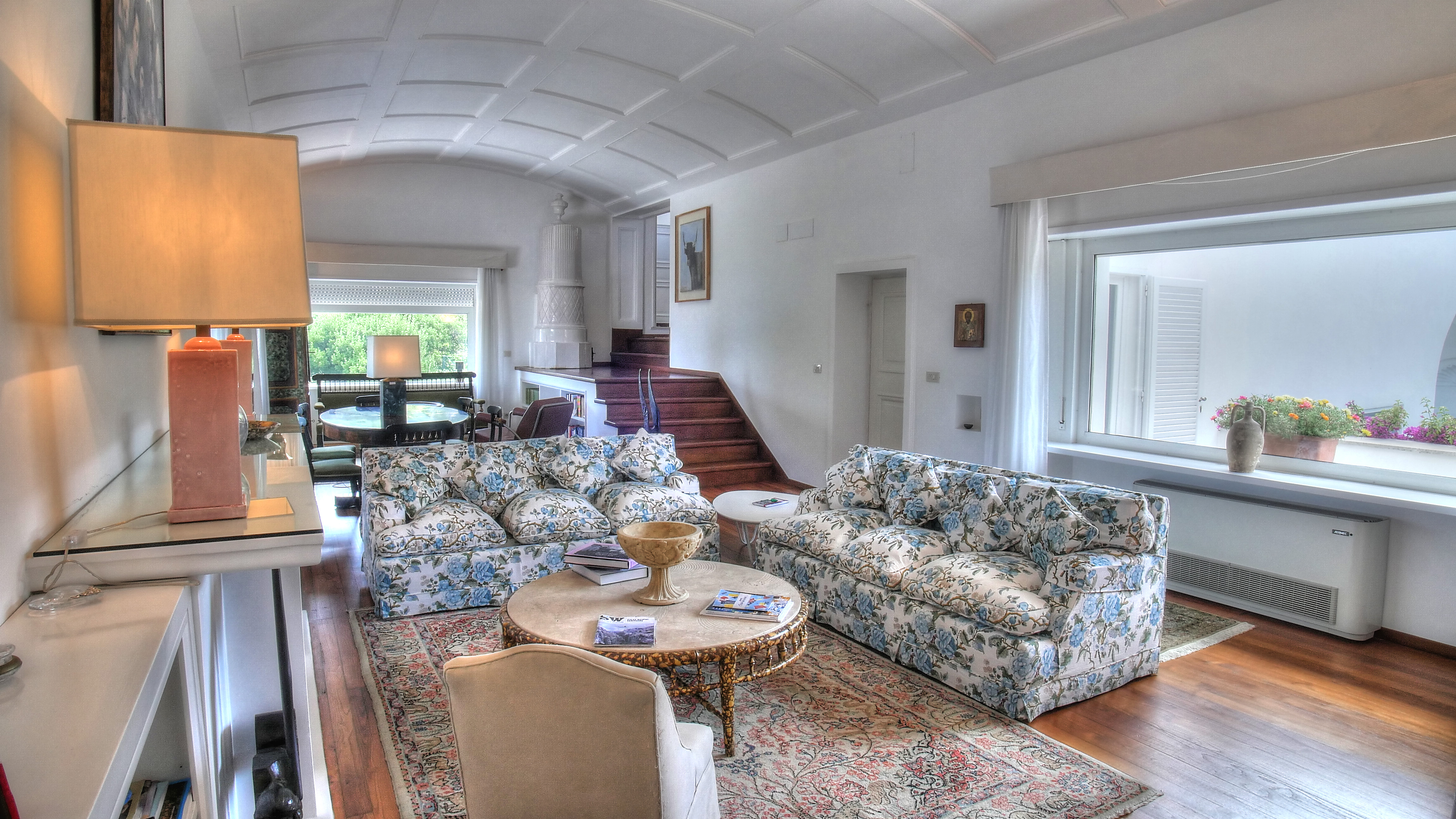 ISLAND OF CAPRI ITALY ESTATE SITTING ROOM ATRIUM