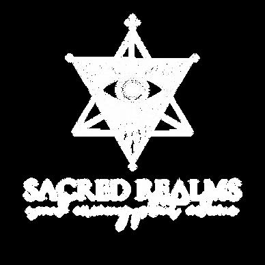 sacred realms. large. white transparent.