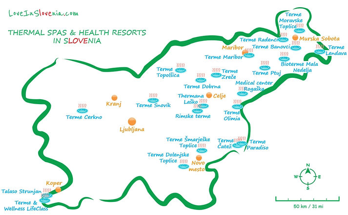 Thermal Spas_Health Resorts in Slovenia.