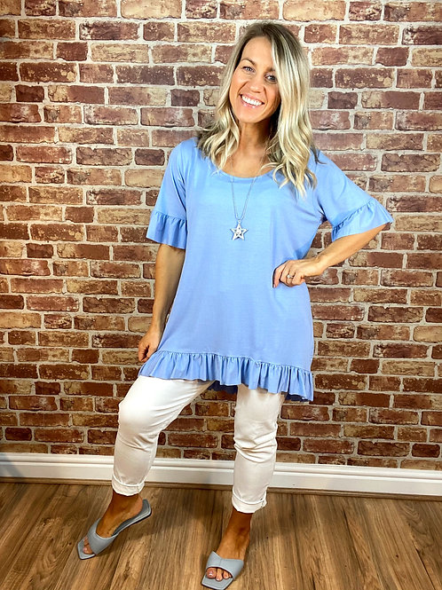 Frill B Necklace Top