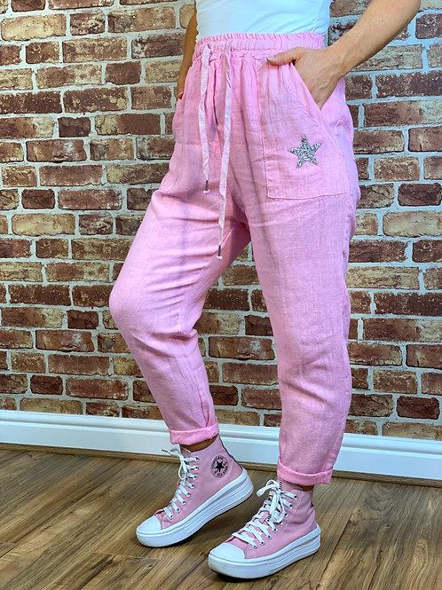 Star Linen Pants