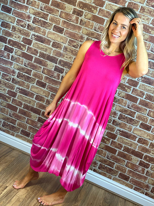 Tie Dye Drape Dress