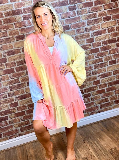 Rainbow Frill Dress