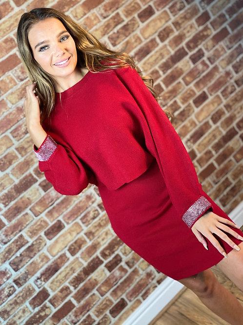Sparkle Cuff Jumper Dress
