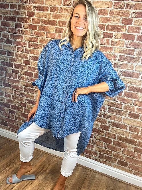Leopard Denim Shirt