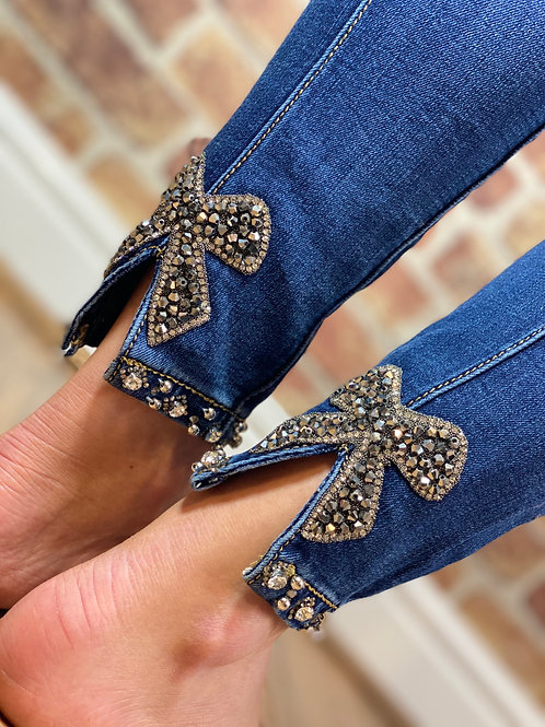 Bow Back Jeans