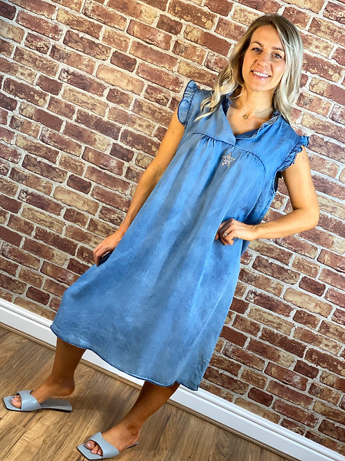 Denim Sparkle Star Dress