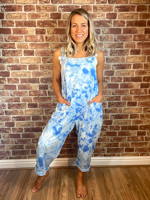 Marble Print Dungarees