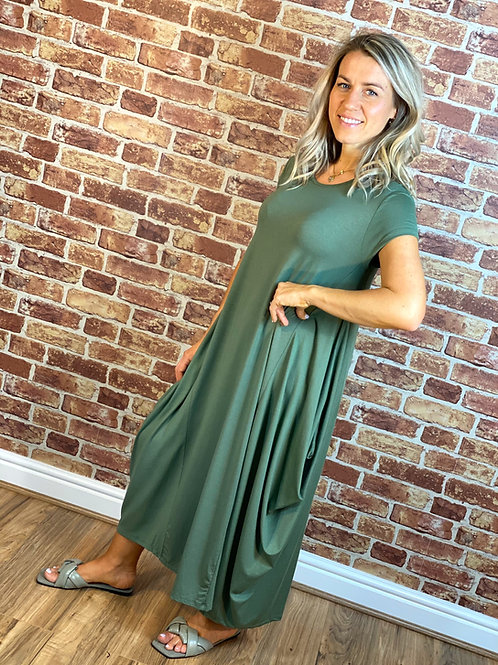 Cap Sleeve Panel Dress