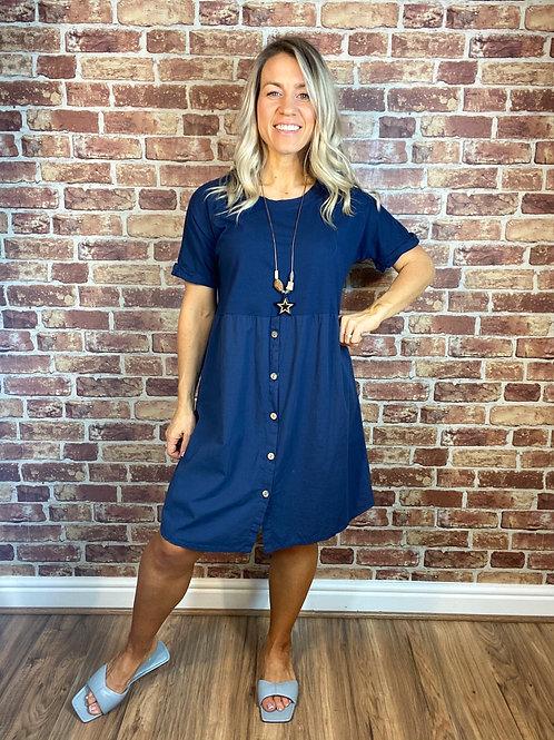Button Up Front Dress