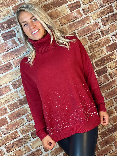 Sparkle Bottom Roll Neck