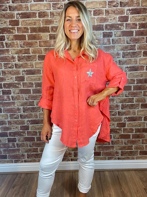 Star Italian Linen Shirt