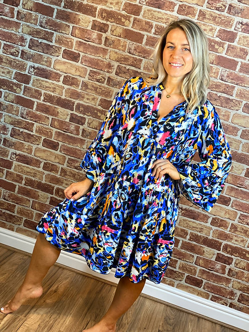 Painted Bell Sleeve Dress