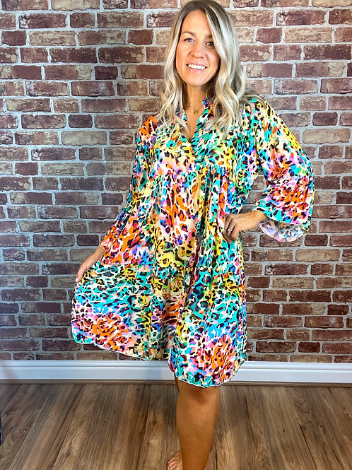 Colour Perfect Swing Dress