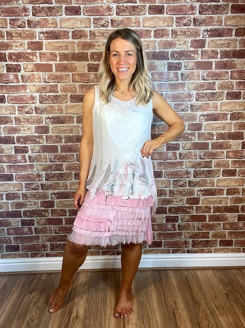 Tie Dye Silk Layer Dress